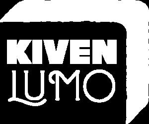 Kivenlumo logo valkoinen